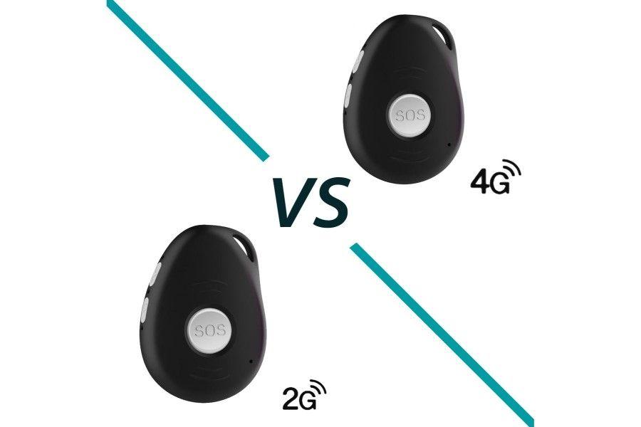 Wat is het verschil tussen 2G en 4G bij een noodknop?